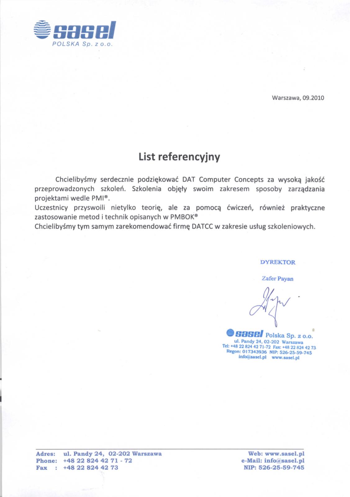 Sasel Polska Sp. z. o.o.