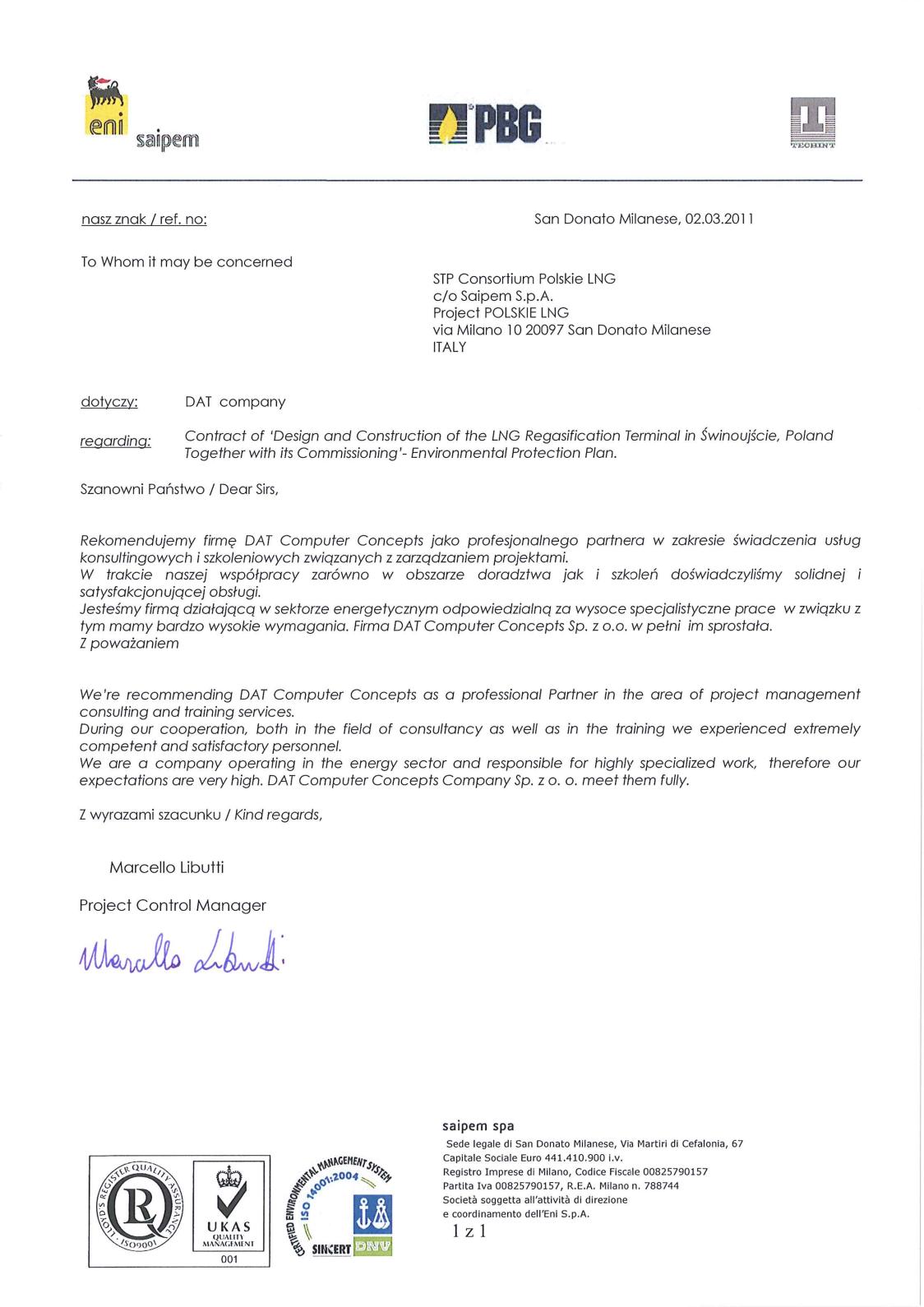 STP Consortium Polskie LNG