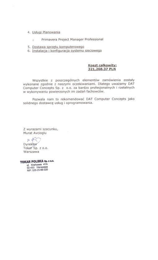 Tokar Polska Sp. z o.o. 2 z 2